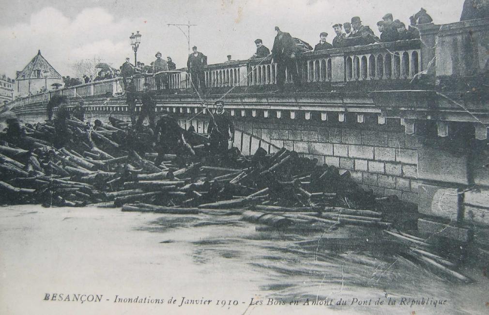 inonadtion doubs 1910 Besançon crue historique